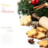 Печенья рождества домодельные Стоковое Изображение