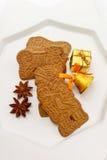 Печенья рождества, печенья миндалины, анисовка звезды Стоковые Изображения RF