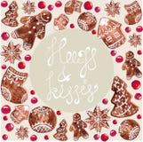 Печенья рождества пряника Стоковые Изображения RF