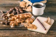 Печенья рождества чашка кофе Стоковое Изображение RF
