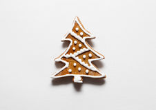 Печенья рождественской елки от пряника Стоковая Фотография