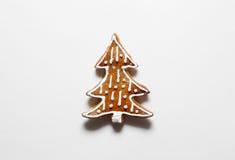 Печенья рождественской елки от пряника Стоковые Фото