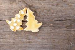 2 печенья рождественской елки Стоковые Изображения