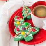 Печенья рождественской елки Стоковая Фотография RF