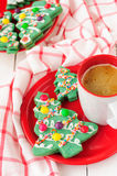Печенья рождественской елки Стоковое Изображение RF