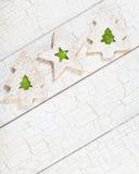 Печенья рождественской елки Стоковые Изображения