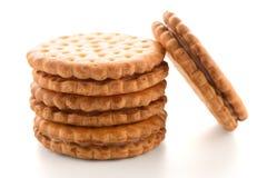 Печенья сандвича с ванильной завалкой стоковые фотографии rf