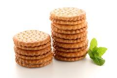 Печенья сандвича с ванильной завалкой стоковая фотография rf