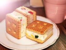 Печенья сандвича с студнем, едой Стоковое Изображение