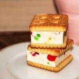 Печенья сандвича с студнем, едой Стоковые Фото