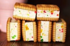 Печенья сандвича с студнем, едой Стоковое фото RF