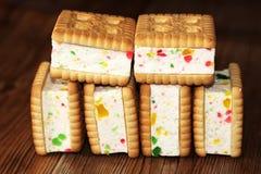 Печенья сандвича с студнем, едой Стоковые Изображения RF