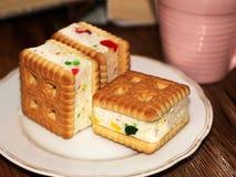 Печенья сандвича с студнем, едой Стоковая Фотография RF