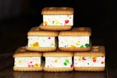 Печенья сандвича с студнем, едой Стоковое Изображение RF