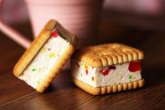 Печенья сандвича с студнем, едой Стоковое Фото