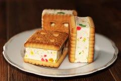 Печенья сандвича с студнем, едой Стоковые Фотографии RF