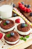 Печенья сандвича шоколада Стоковое Изображение RF