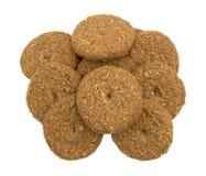 Печенья сахара овсяной каши свободные изолированные на белой предпосылке Стоковые Фото