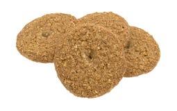 Печенья сахара овсяной каши свободные изолированные на белой предпосылке Стоковая Фотография
