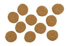 Печенья сахара овсяной каши свободные изолированные на белой предпосылке Стоковая Фотография RF