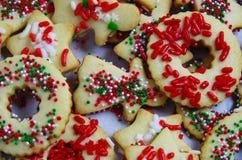 Печенья сахара покрывая лист выпечки Стоковые Фото