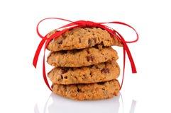 Печенья связанные с красной тесемкой Стоковое Изображение RF
