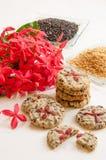 Печенья сезама Стоковые Фото