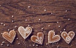 Печенья сердца пряника стоковые фото