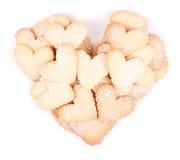 Печенья сердца форменные на белой предпосылке Стоковое фото RF