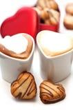 Печенья сердца форменные cream Стоковые Изображения RF