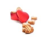 Печенья сердца форменные cream Стоковое Изображение RF
