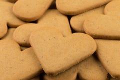 Печенья сердец пряника Стоковое Изображение