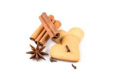 Печенья сердец пряника Стоковые Фото