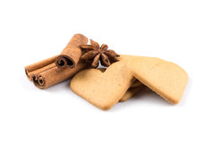 Печенья сердец пряника Стоковое Фото