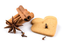 Печенья сердец пряника Стоковая Фотография