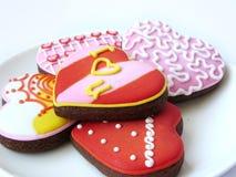 Печенья сердца влюбленности Стоковое Изображение RF