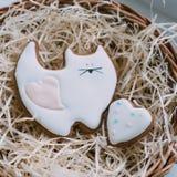 Печенья сердца дня ` s валентинки Стоковое Изображение RF