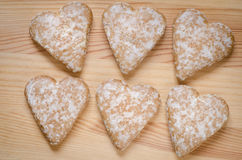 Печенья сердца пряника Стоковые Фотографии RF