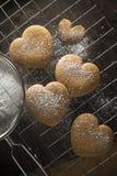 Печенья сердца пряника Стоковое Фото