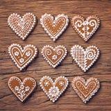 Печенья сердца пряника стоковое фото rf