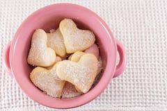 Печенья сердца форменные в шаре Стоковое Изображение RF