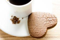Печенья сердца шоколада Стоковое Фото