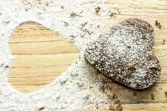 Печенья сердца шоколада Стоковое Изображение RF