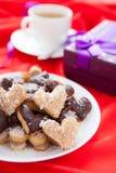 Печенья сладостного шоколада и кокоса Стоковые Фотографии RF