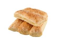 Печенья слойки, изолированные на белой предпосылке Стоковая Фотография