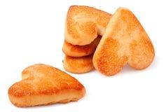Печенья стога в форме сердца на деревянной доске Стоковое Изображение RF
