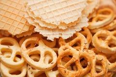 печенья сушат посолено стоковые фото