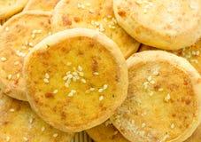 Печенья сыра, мини пицца Стоковые Изображения