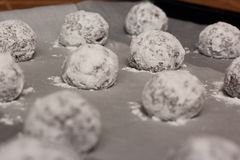 печенья сырцовые Стоковые Фото