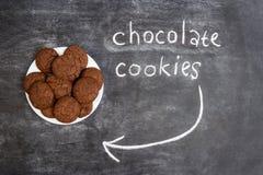 Печенья сладостного шоколада в плите Стоковое Изображение RF